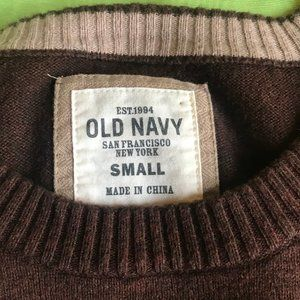 Old Navy Sweaters - Old Navy Men's Brown Crew Neck Sweater Sz Sm